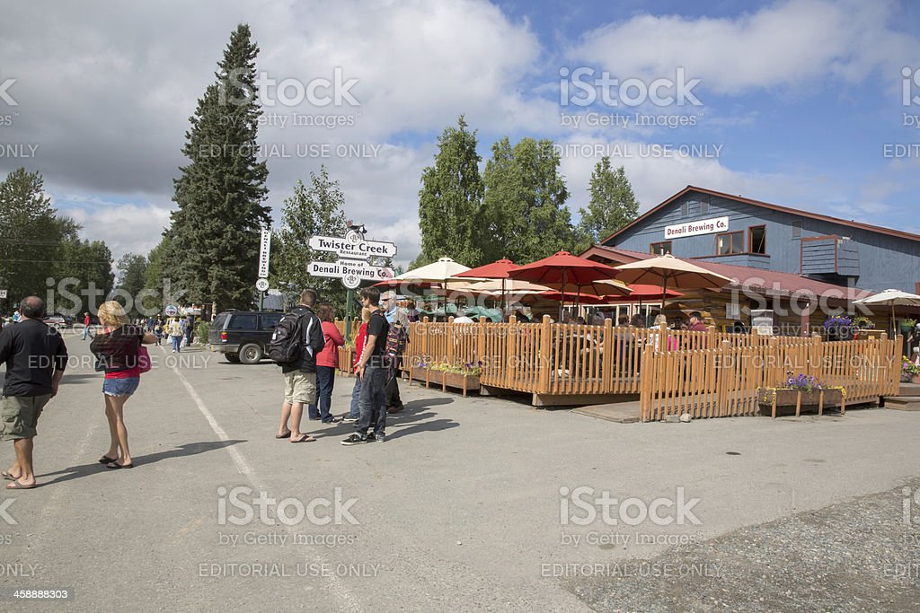 Love Local- Talkeetna Alaska stock photo