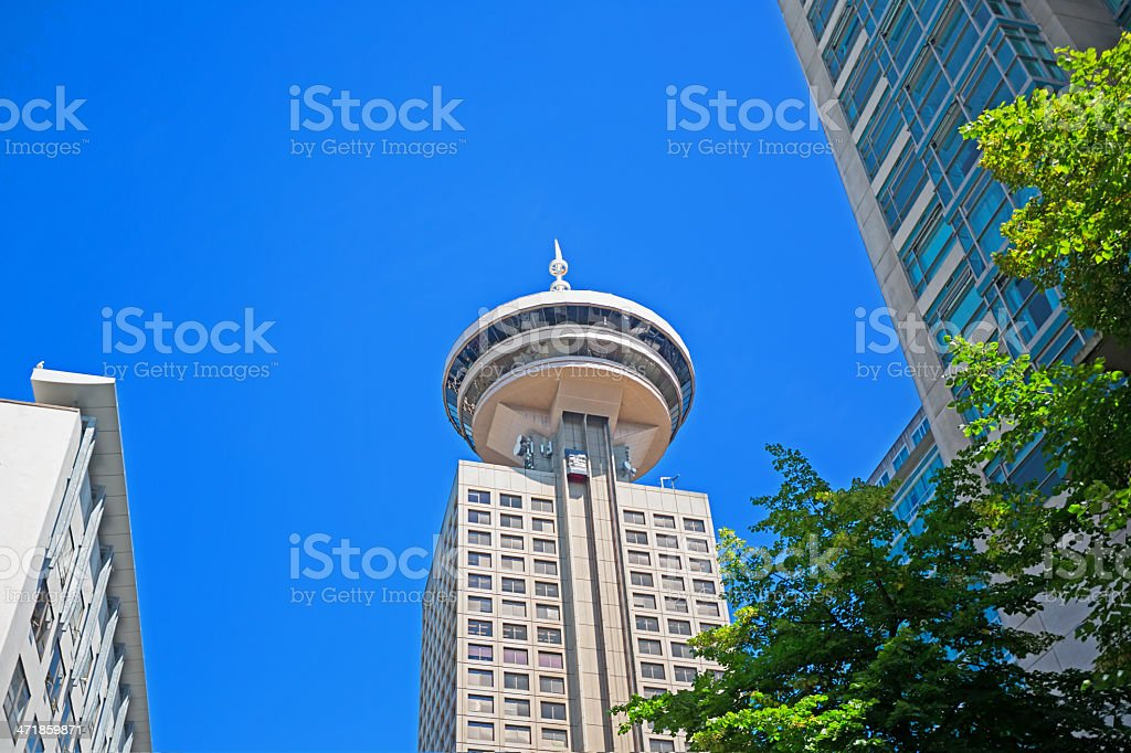 Love Local:  Top of Vancouver Revolving Restaurant Canada stock photo