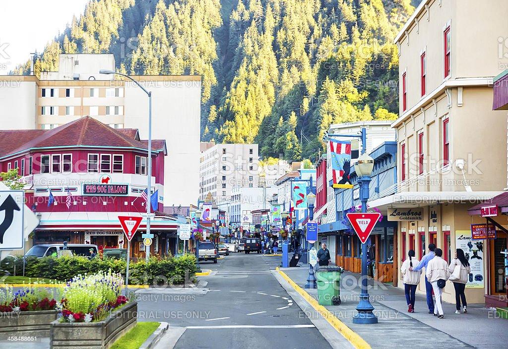 Love local:  Tourist shopping area in Juneau, Alaska  RM stock photo