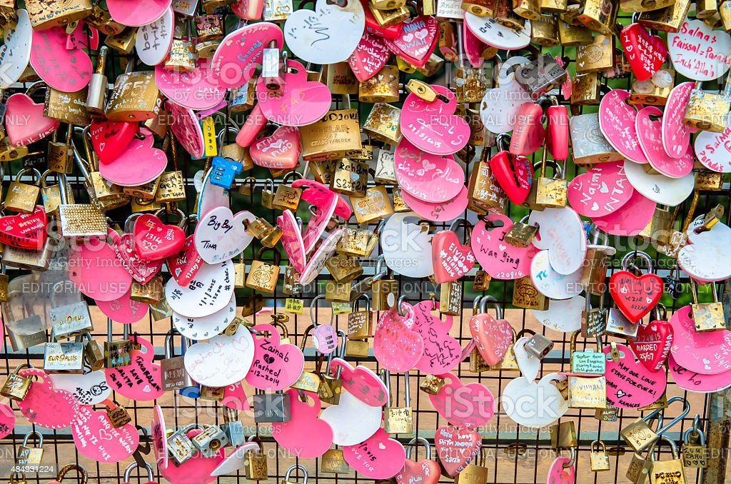 'Love Lock' stock photo