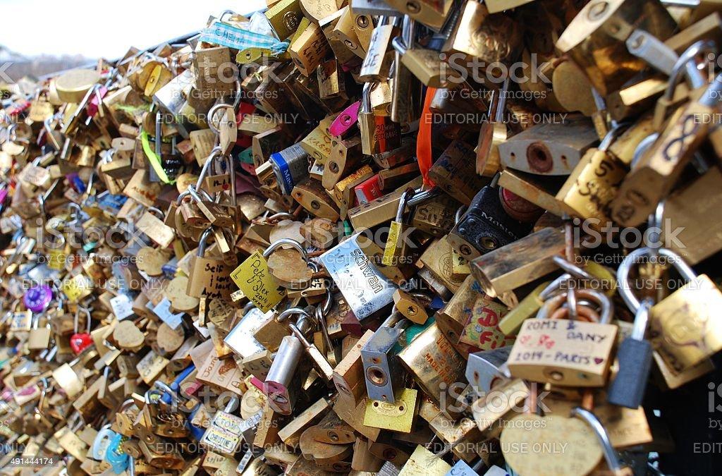Love Locks, Paris stock photo