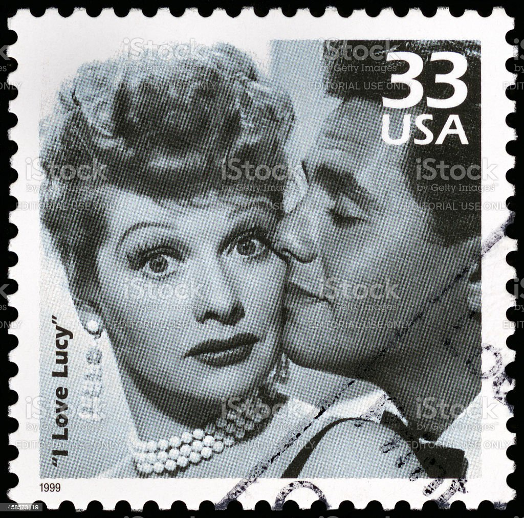 I Love Lucy postage stamp stock photo