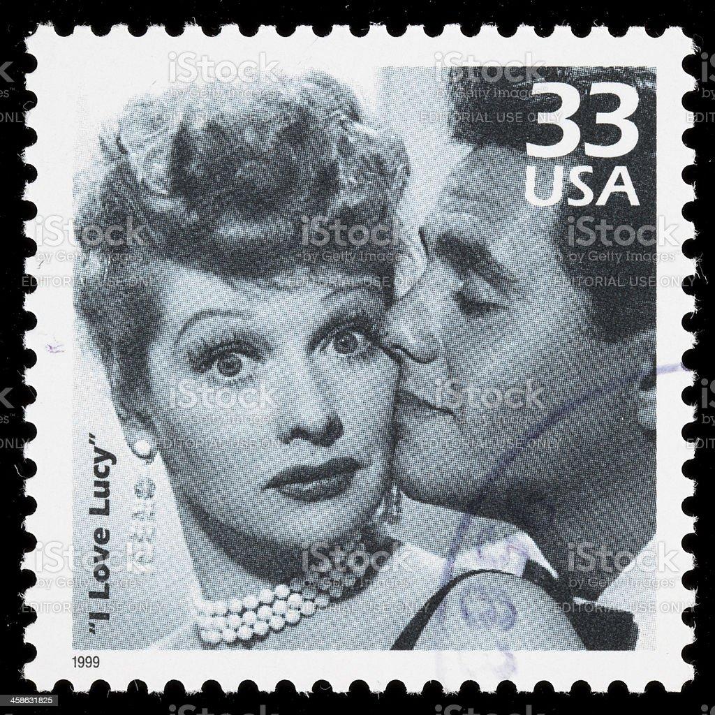 USA I Love Lucy postage stamp stock photo