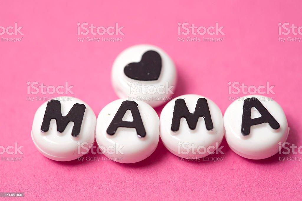 Love Mama royalty-free stock photo