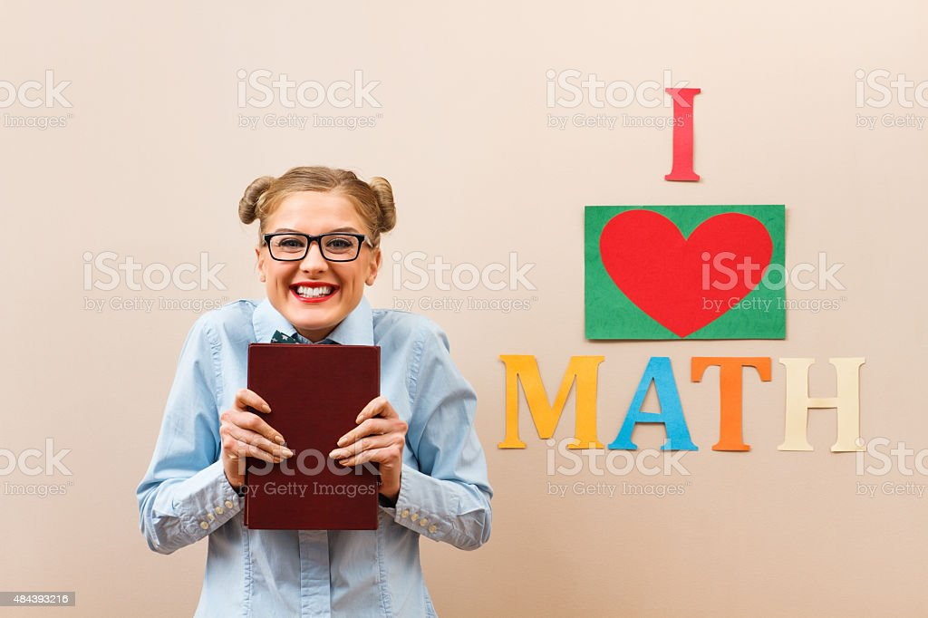 I love math! stock photo