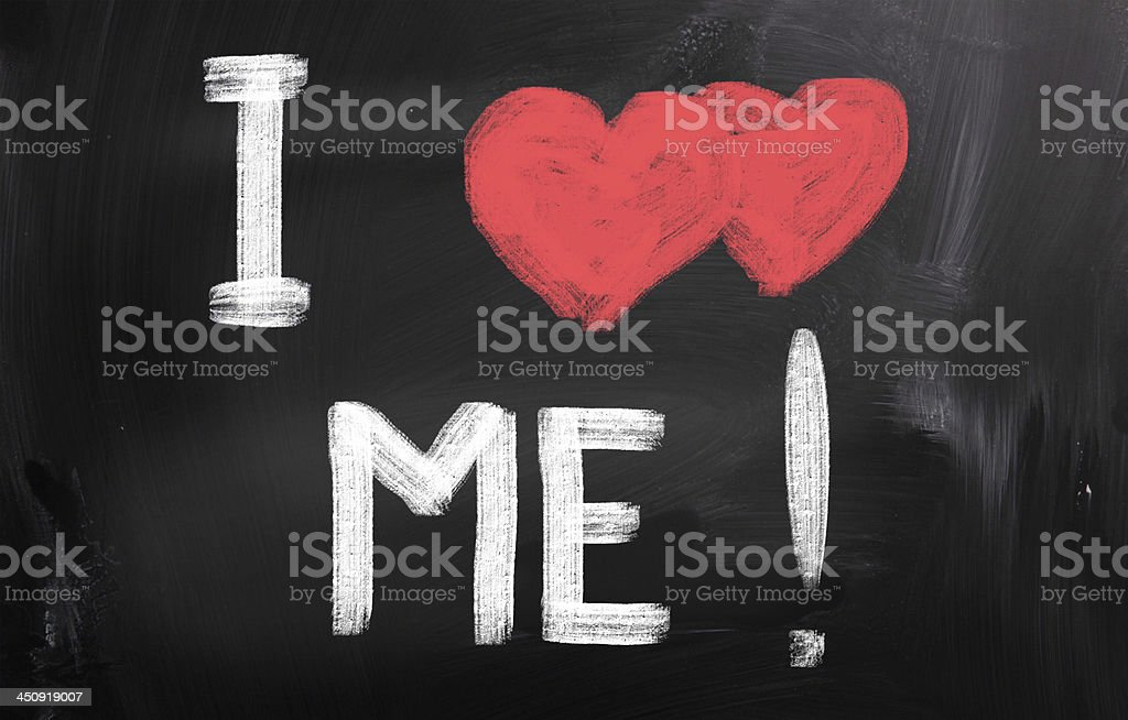 I Love Me Concept royalty-free stock photo