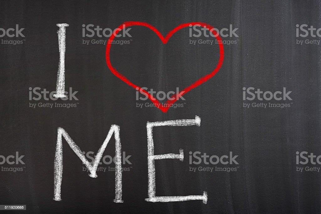 I Love Me stock photo