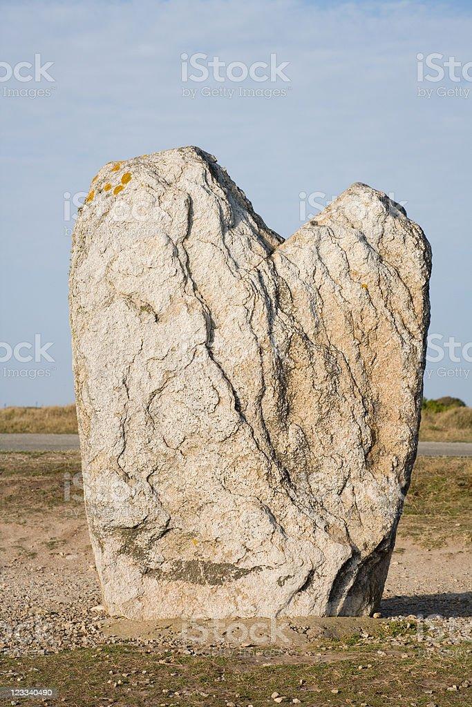 Love Menhir stock photo