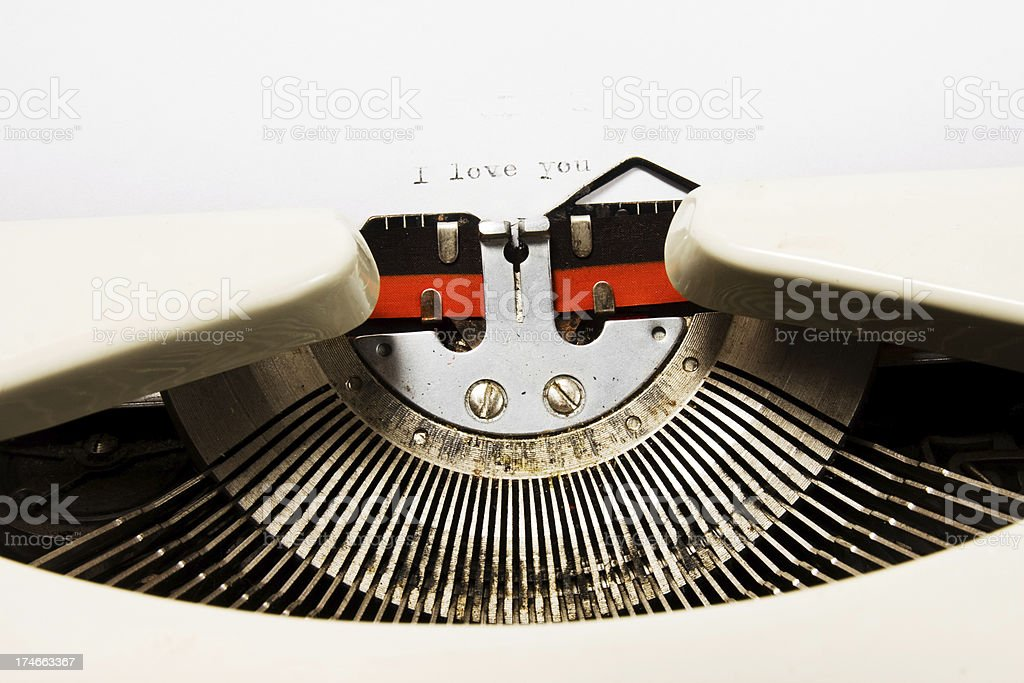 love message and typewriter royalty-free stock photo