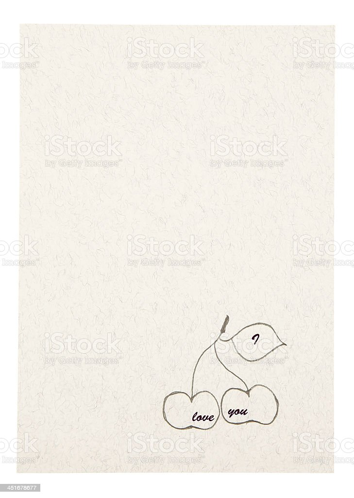 Love message card royalty-free stock photo