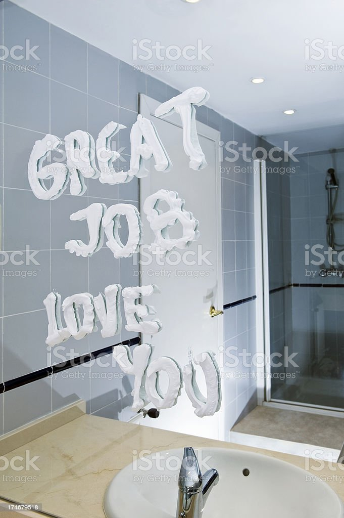 Love message in the morning royalty-free stock photo