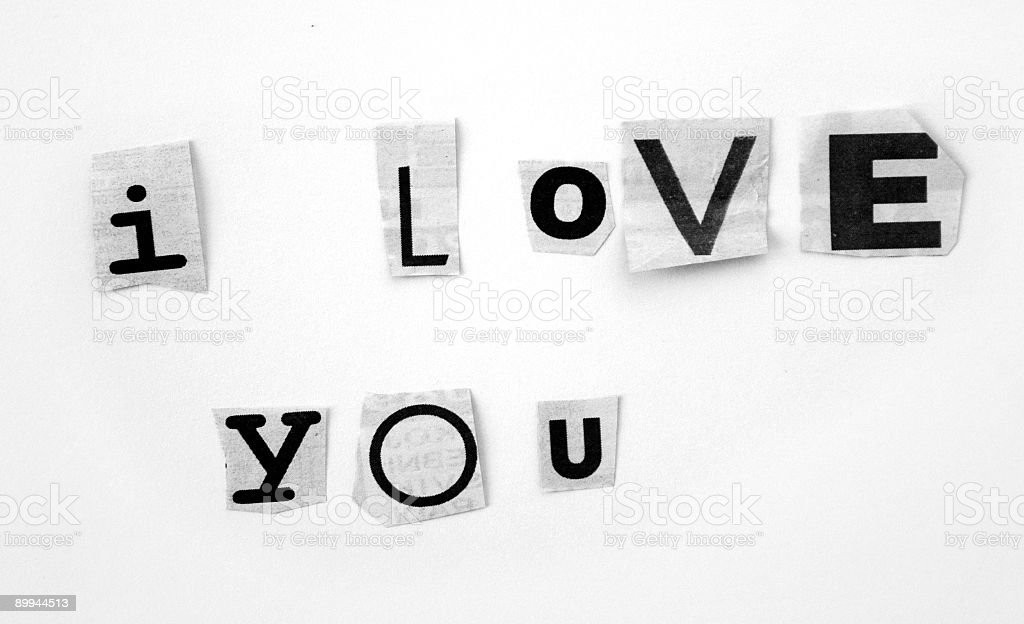 Love message royalty-free stock photo