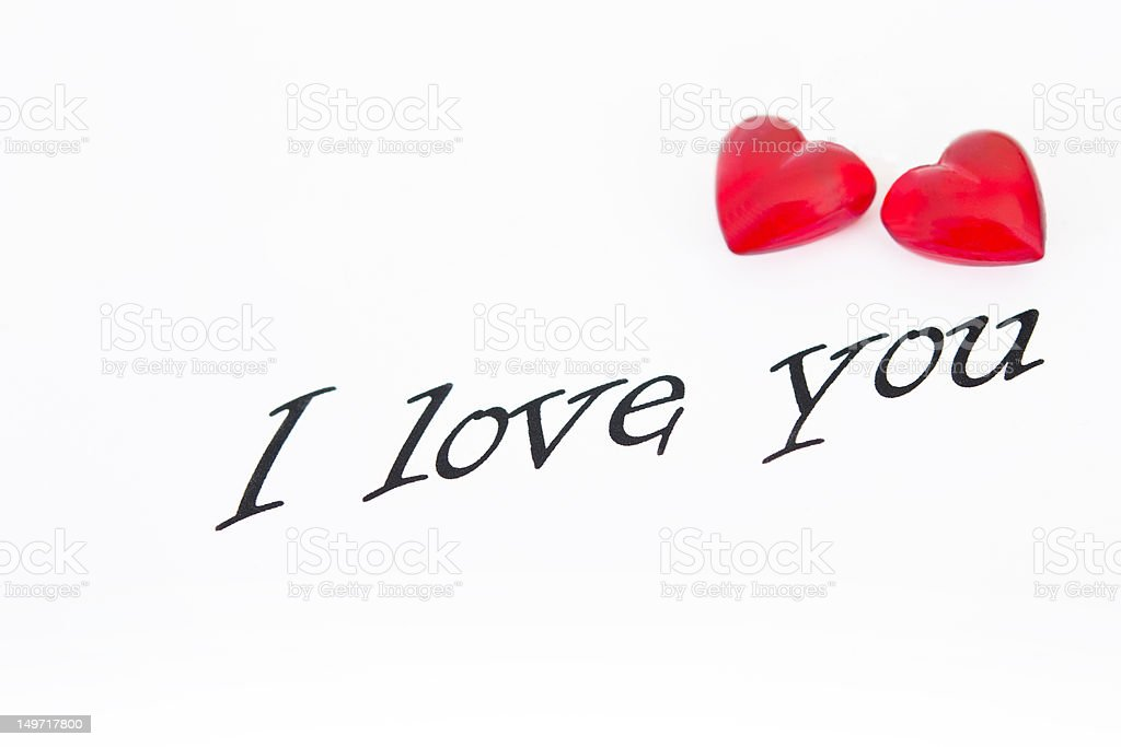 love message with hearts royalty-free stock photo