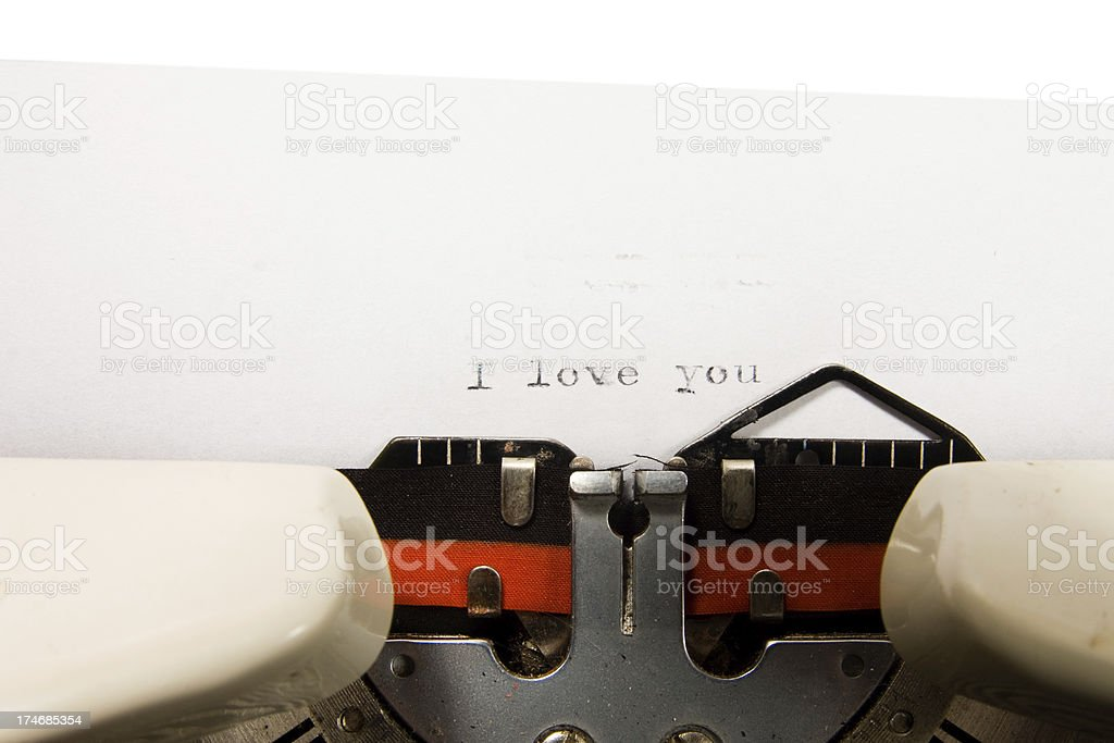 love message, written on a typewriter royalty-free stock photo