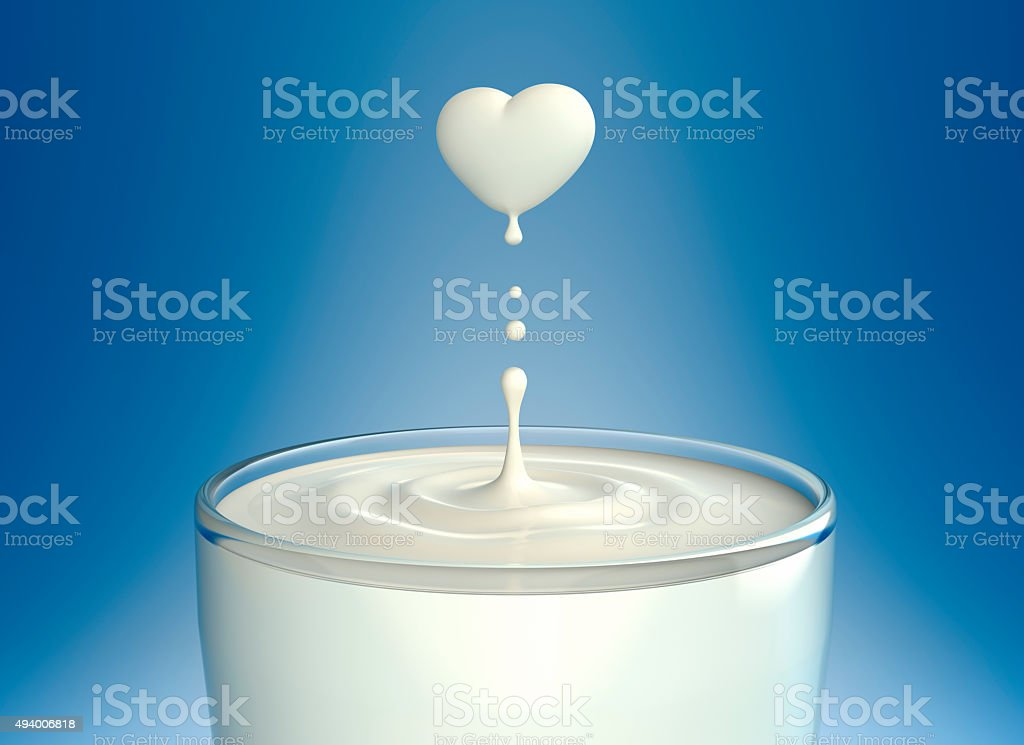 Love Milk stock photo