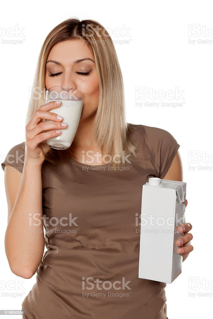 I love milk stock photo
