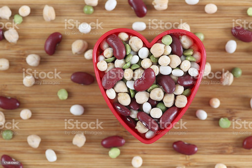 I love mixed legume beans stock photo