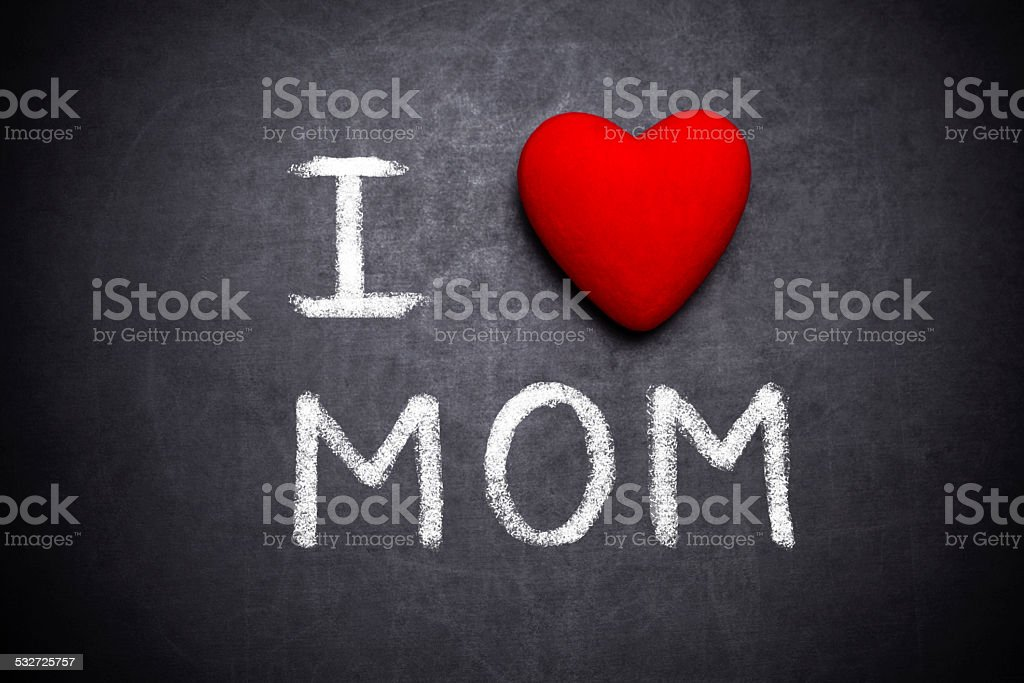 I love mom stock photo