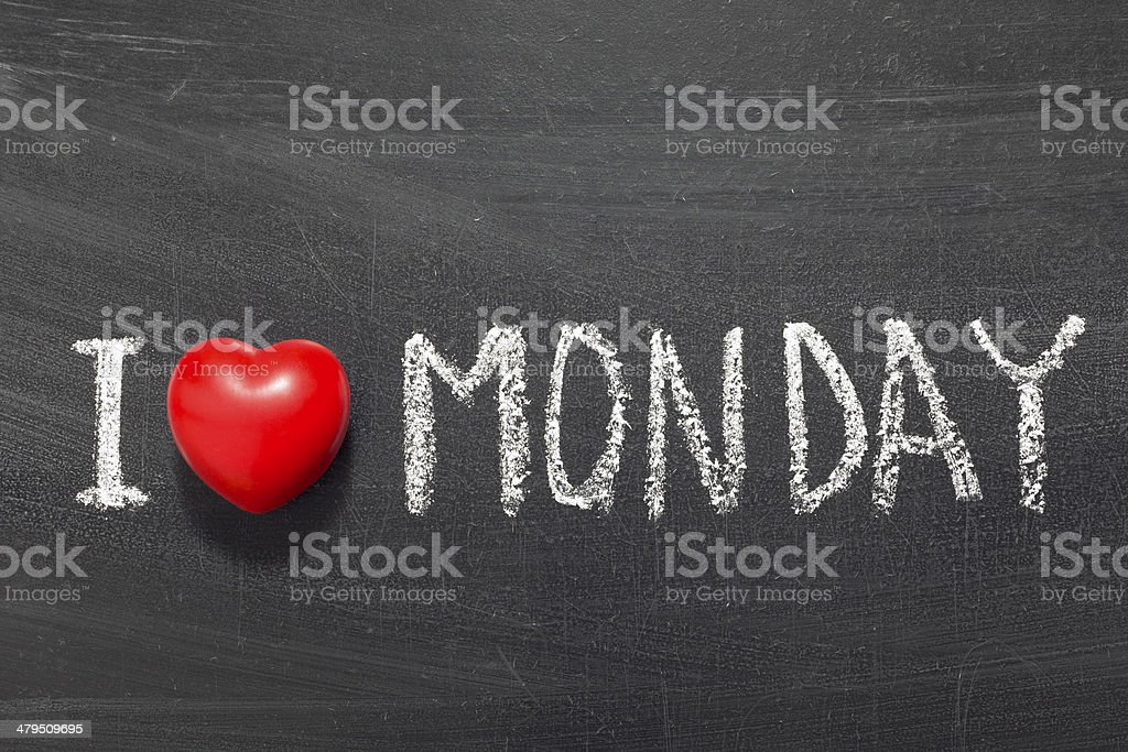 love Monday stock photo