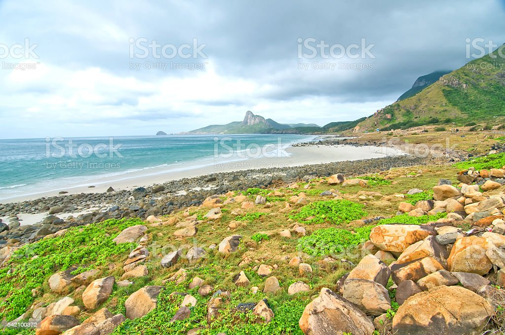 Love mount, Con Dao island, Vietnam stock photo
