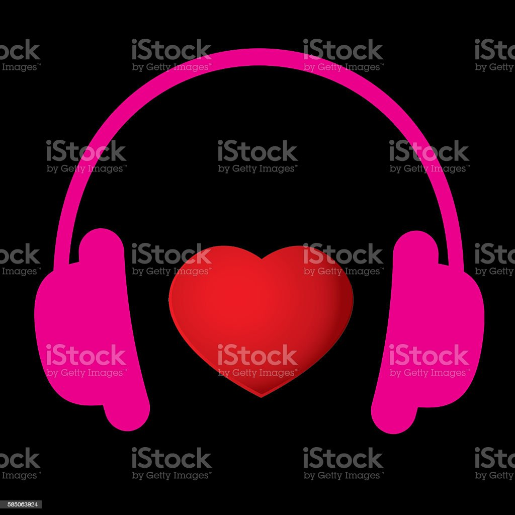 Love Music background stock photo