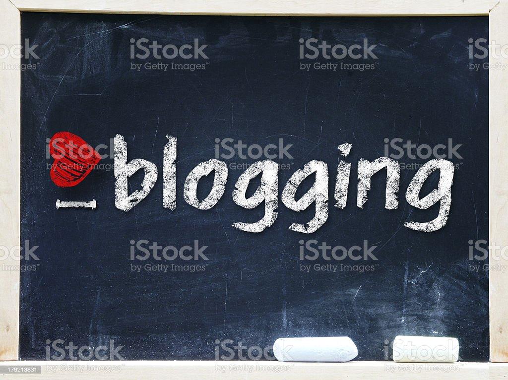 I love my blog handwritten with white chalk royalty-free stock photo
