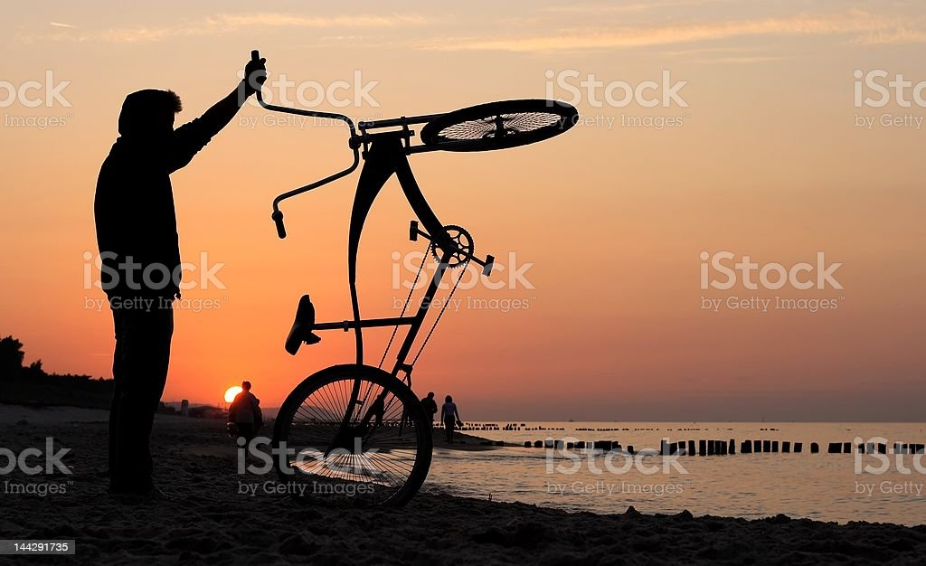 I love my chopper royalty-free stock photo