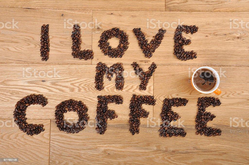 Love my Coffee royalty-free stock photo