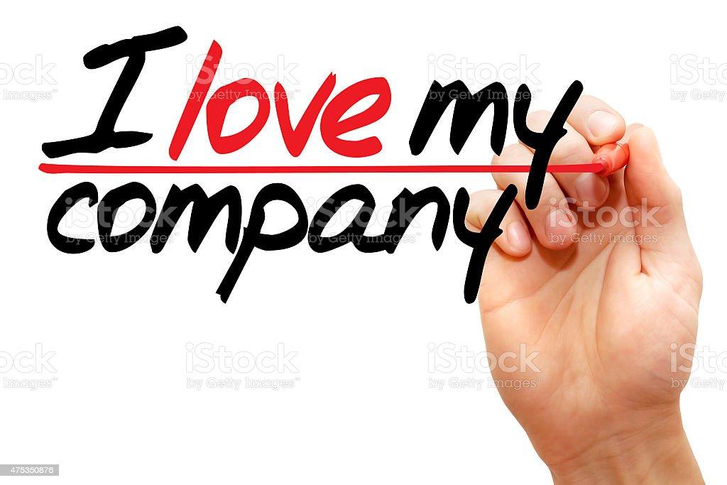 I love my company stock photo