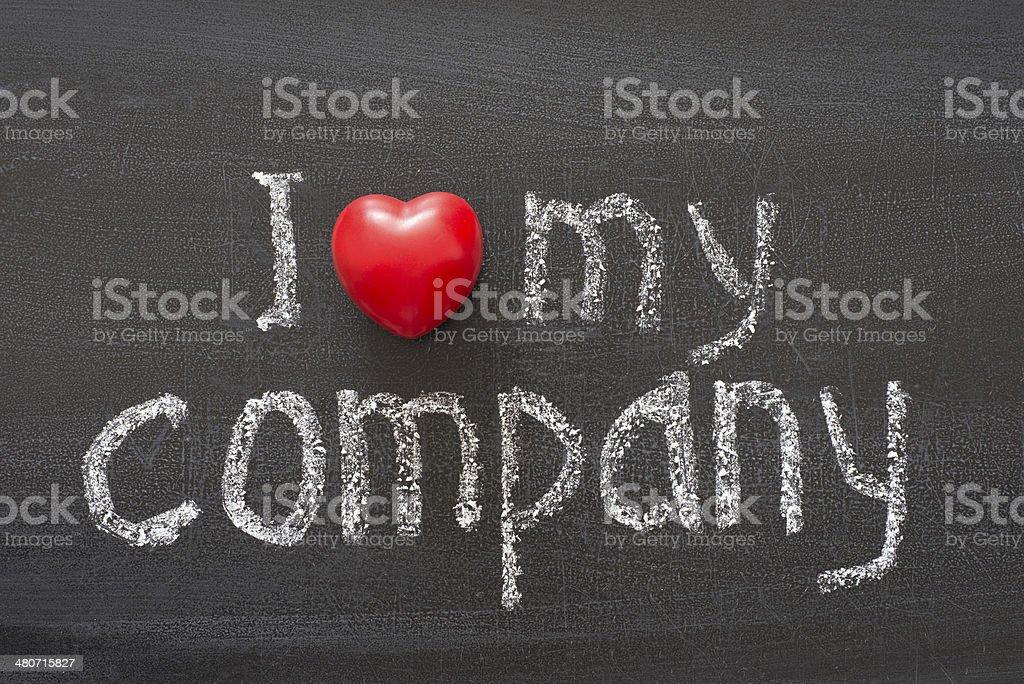 love my company stock photo