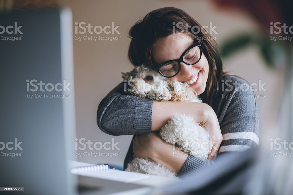 Love my dog! stock photo