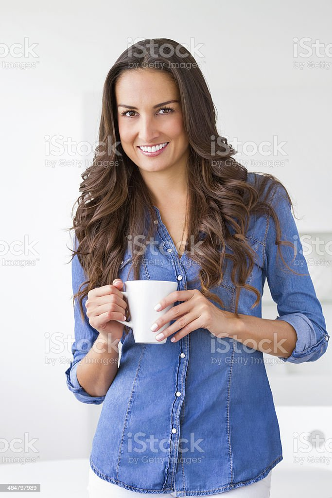 I love my first cup stock photo