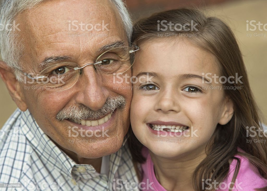 I Love My Grandaddy royalty-free stock photo