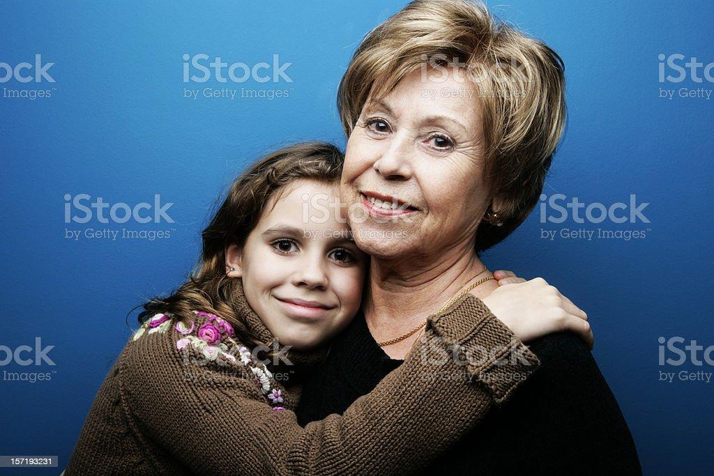 I love my grandma royalty-free stock photo