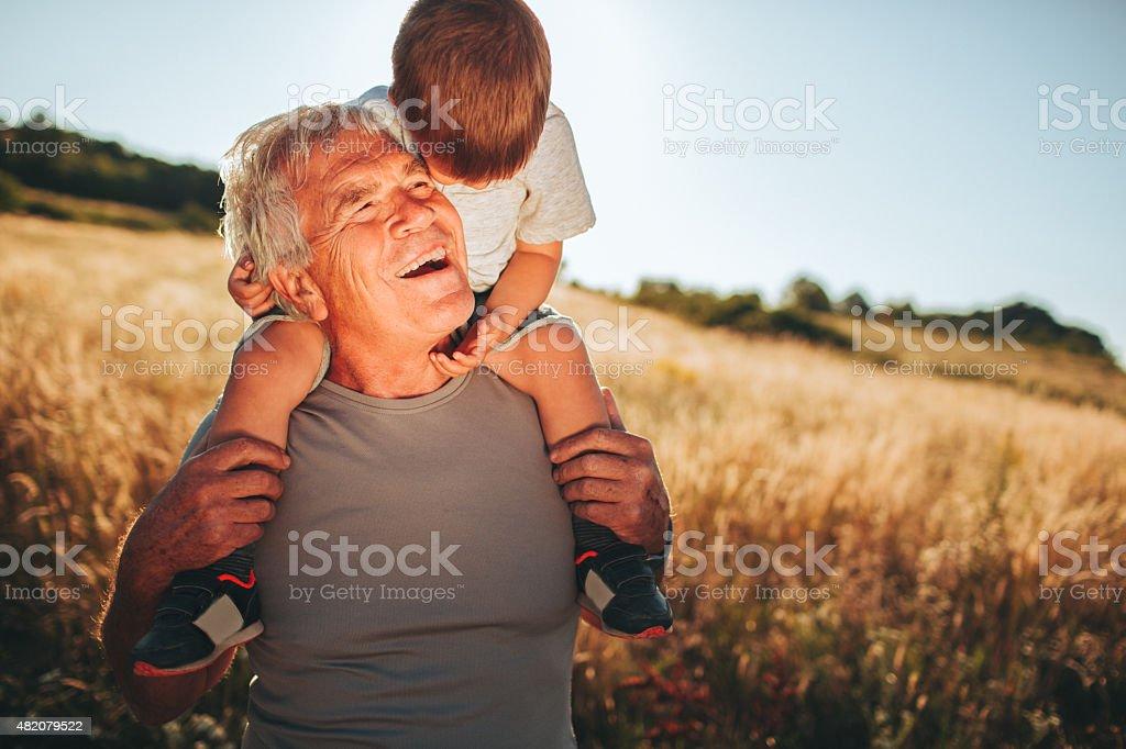 I love my grandpa stock photo