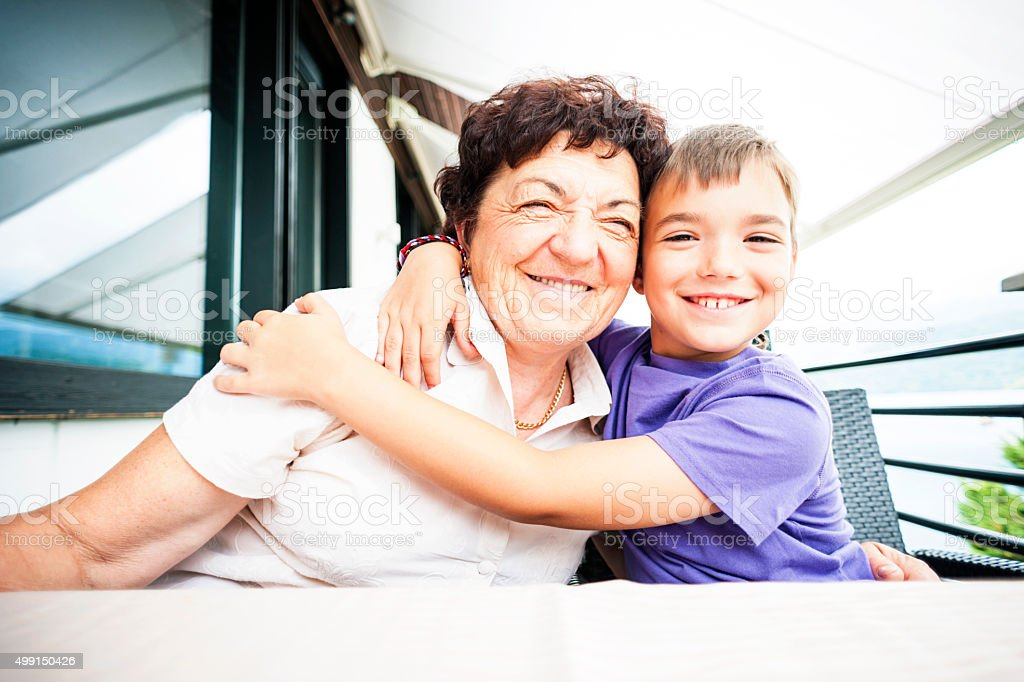 I Love My Granny! stock photo
