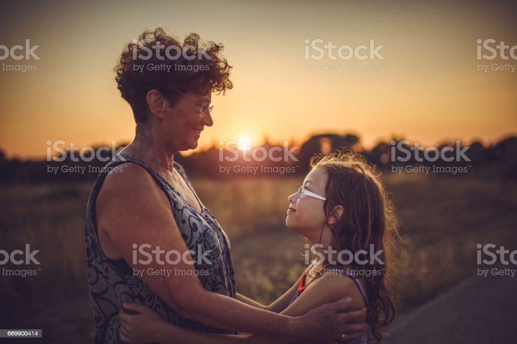 I love my granny stock photo
