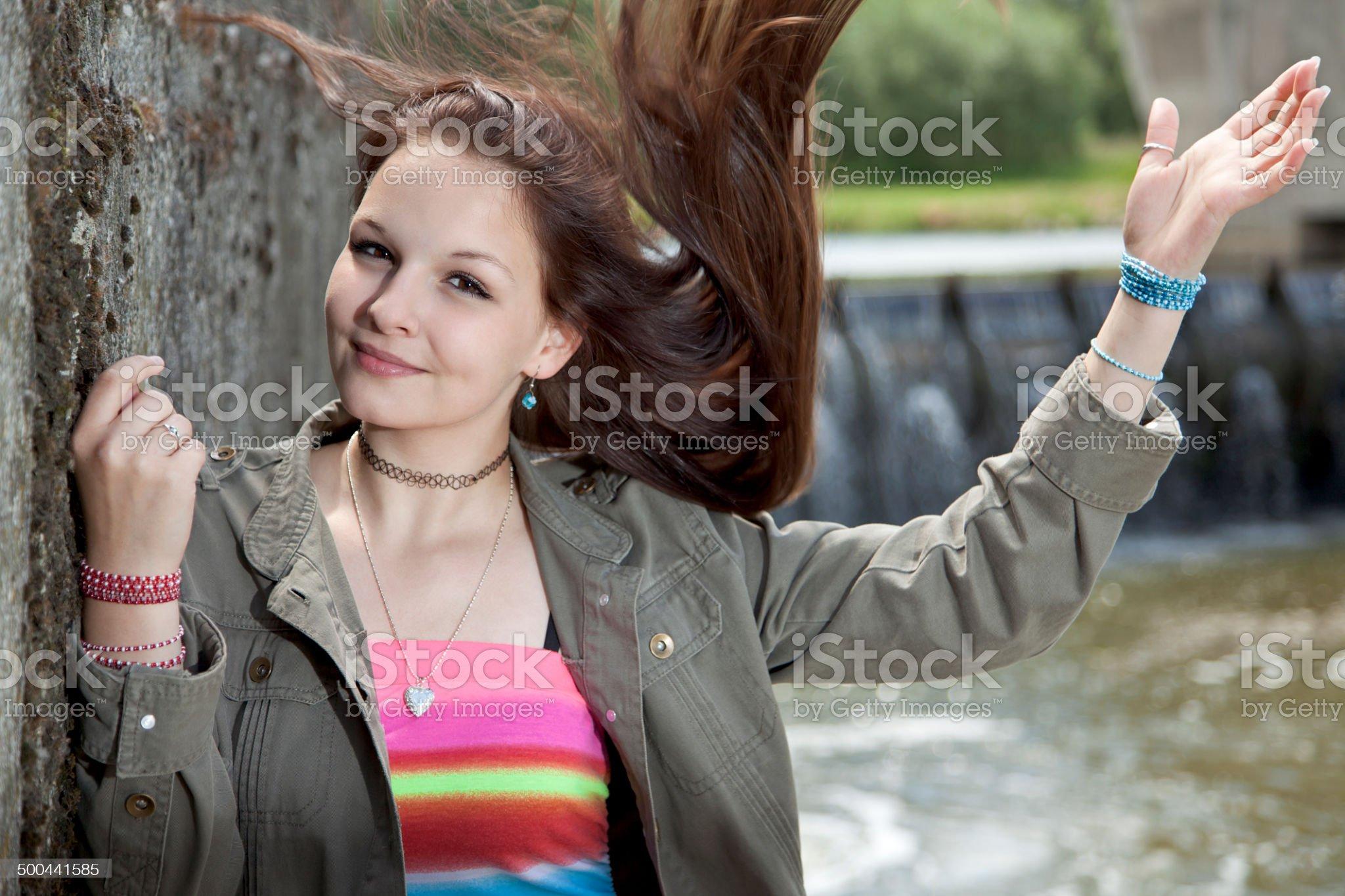 I love my hairs royalty-free stock photo