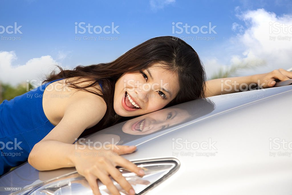 I love my new car royalty-free stock photo