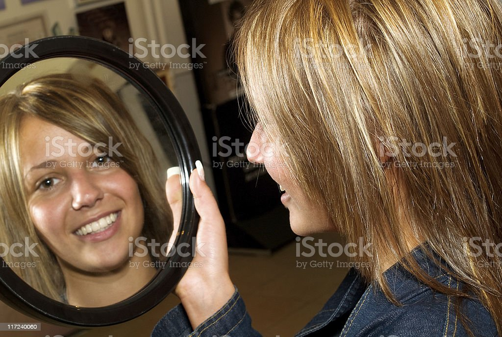 Love my new hair-style! royalty-free stock photo