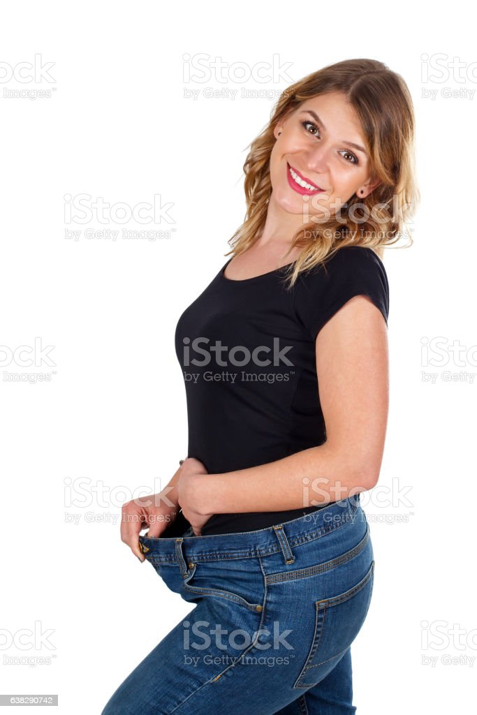 I love my new waistline stock photo