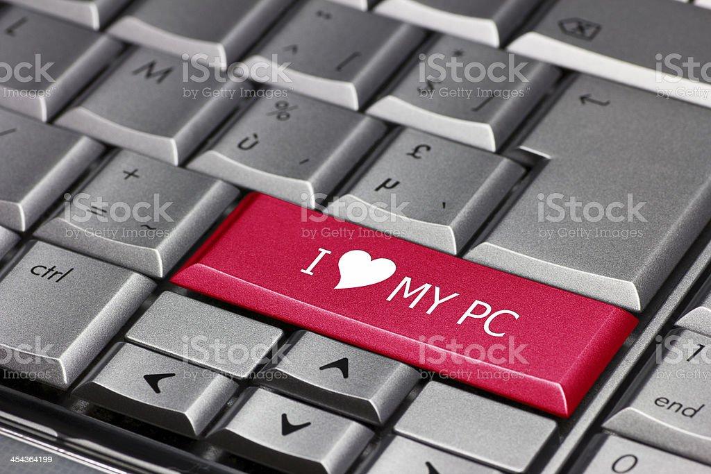 I love my pc royalty-free stock photo