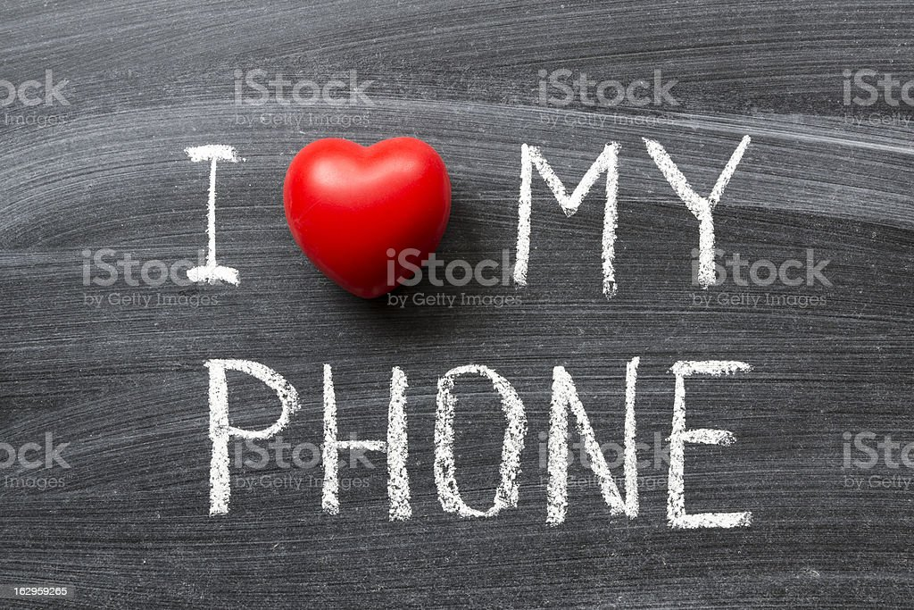 love my phone royalty-free stock photo