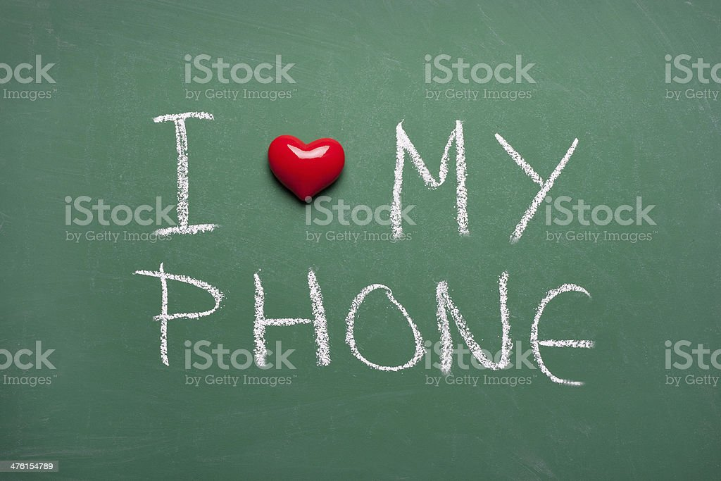 I love my phone royalty-free stock photo