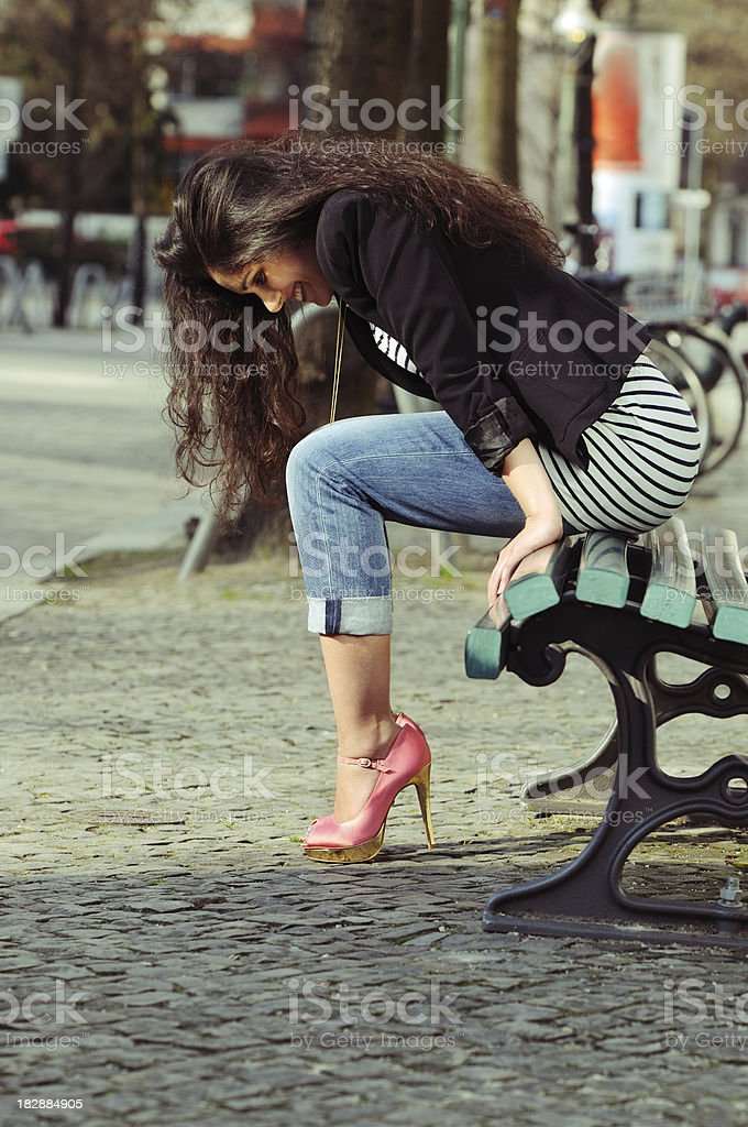 I love my shoes! royalty-free stock photo