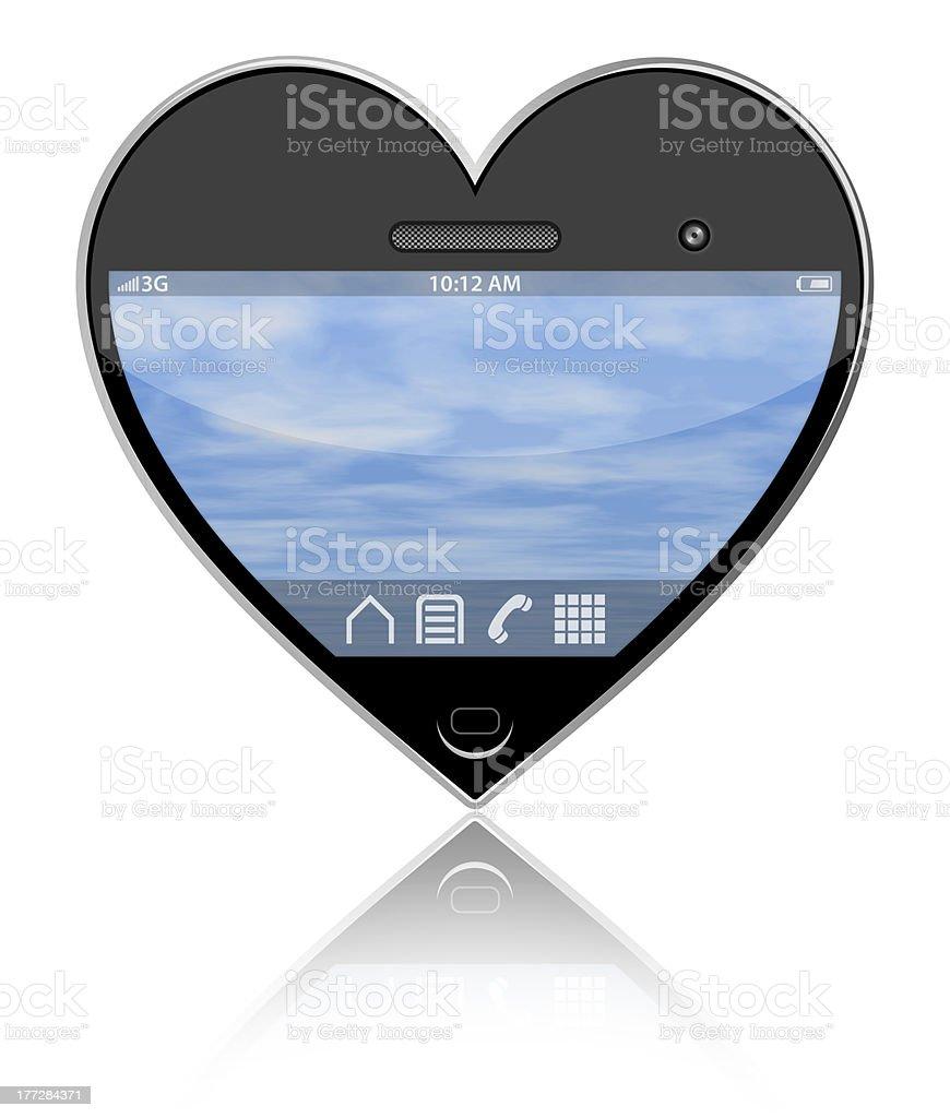 I love my smartphone royalty-free stock photo