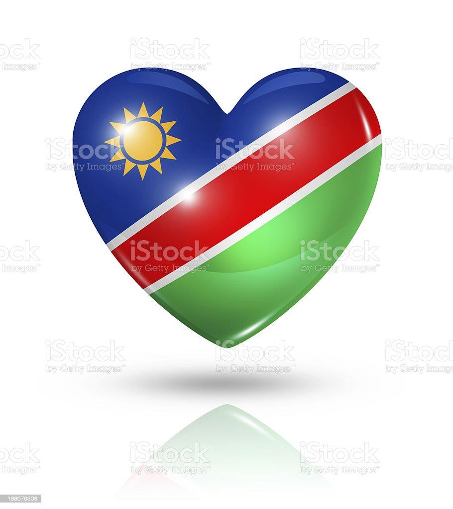 Love Namibia, heart flag icon royalty-free stock photo