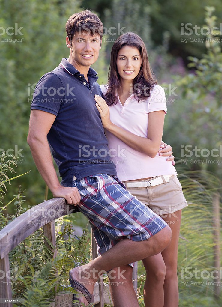 Love, Natural Couple in a Garden (XXXL) royalty-free stock photo