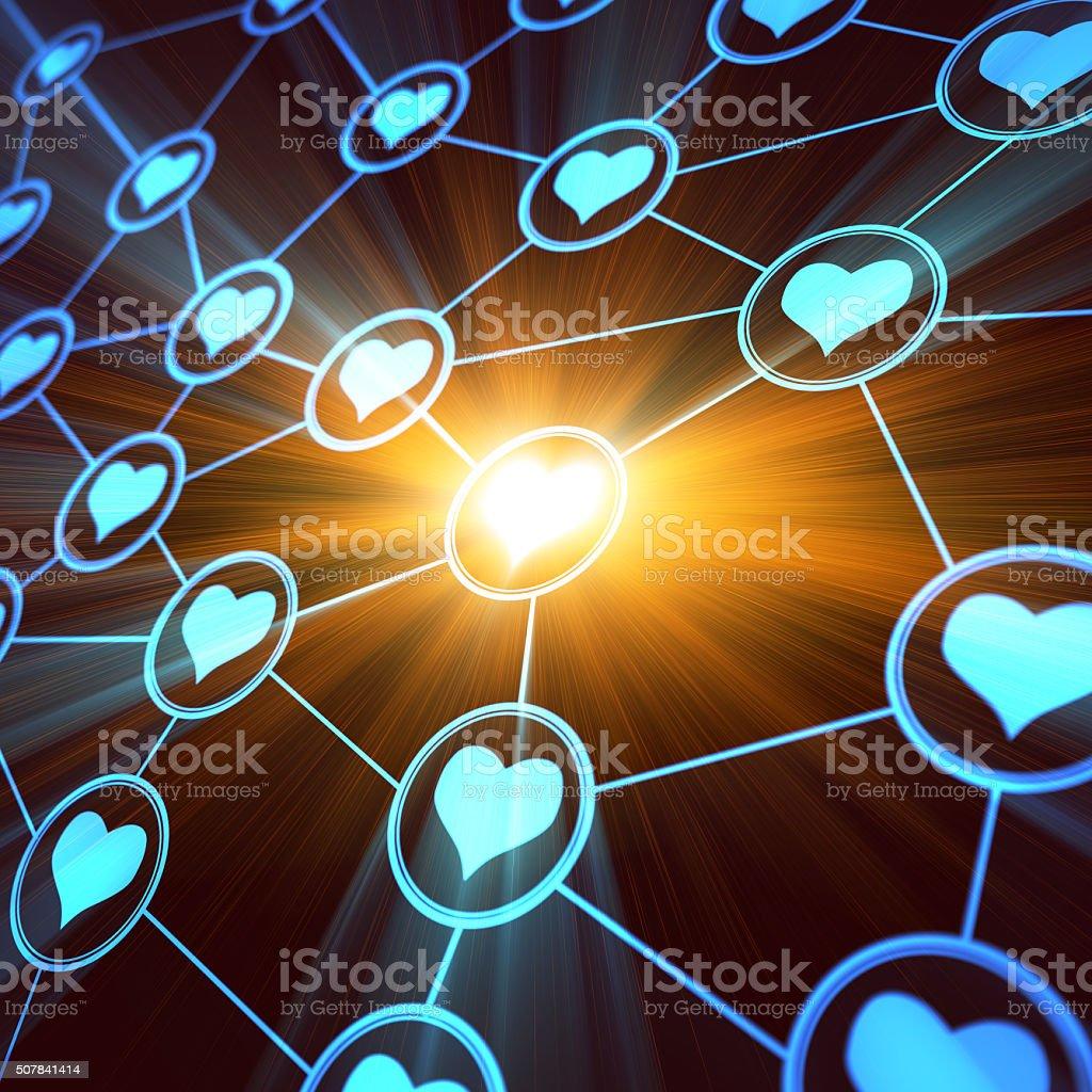 Love Network stock photo