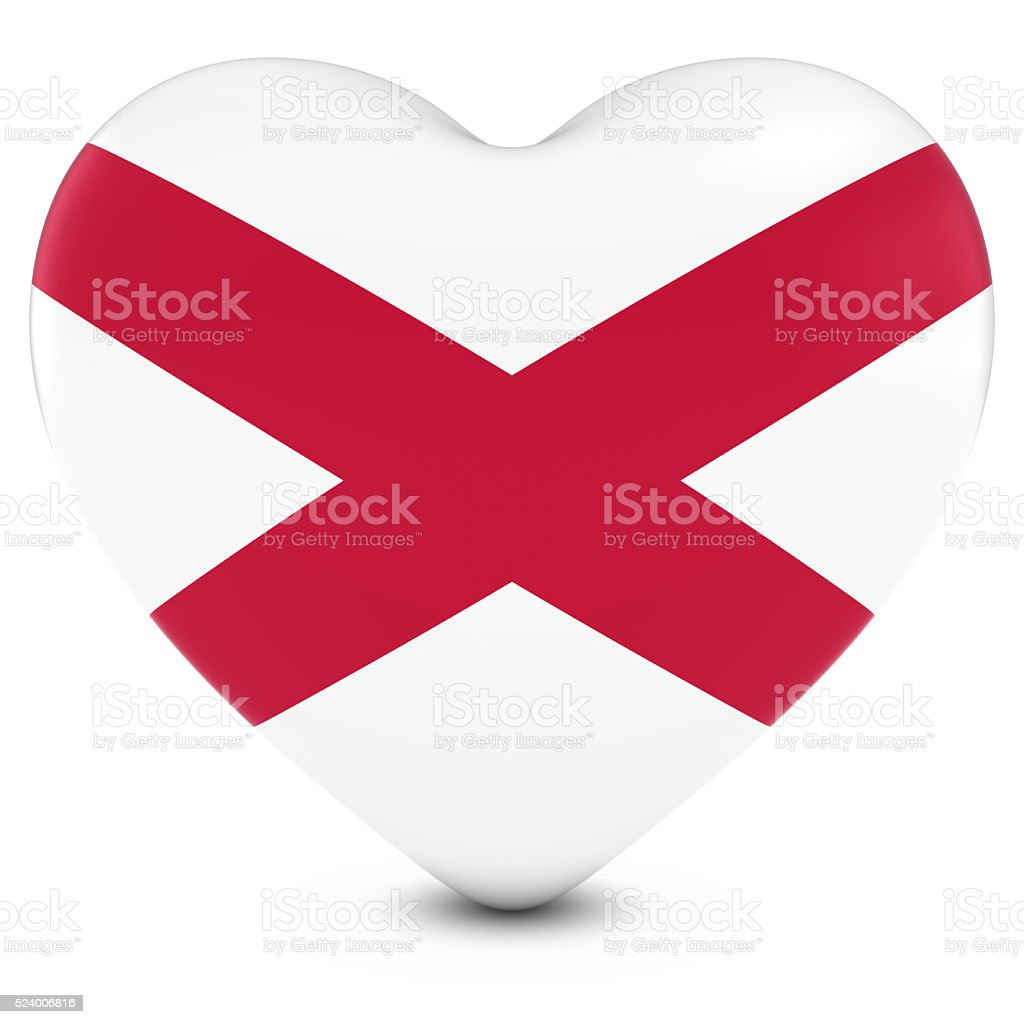 Love Northern Ireland Concept - Heart with Northern Irish Flag stock photo